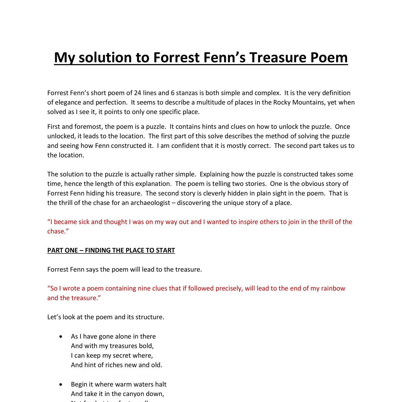 Forrest Fenn docx | DocDroid