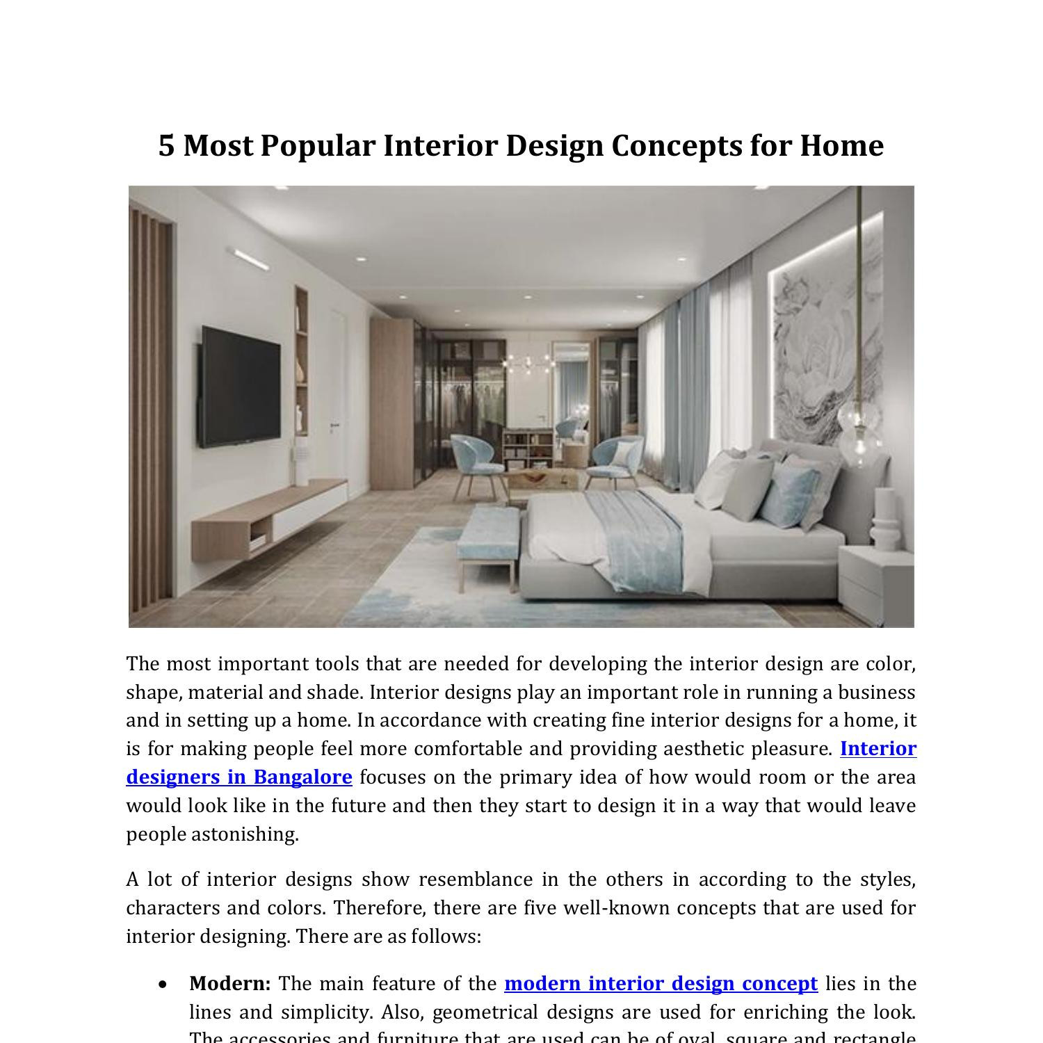 5 Most Popular Interior Design Concepts For Home Pdf Docdroid