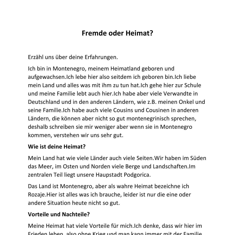 Fremde Oder Heimat Docx Docdroid
