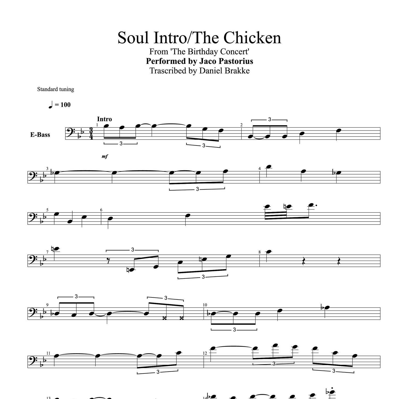 Soul Introthe Chicken Bass Scorepdf Docdroid