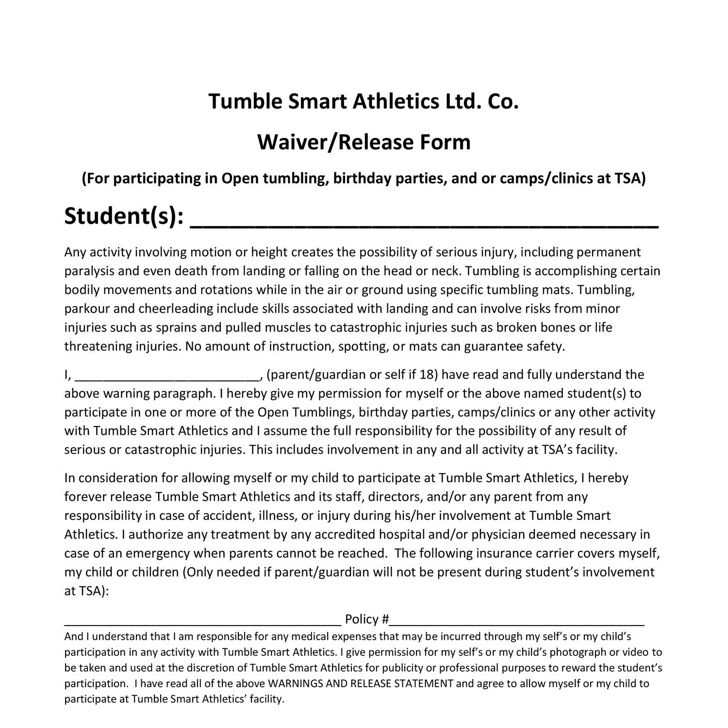 TSA waiver and release of liability form.docx - DocDroid