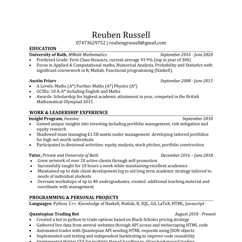 Reuben Russell CV pdf | DocDroid