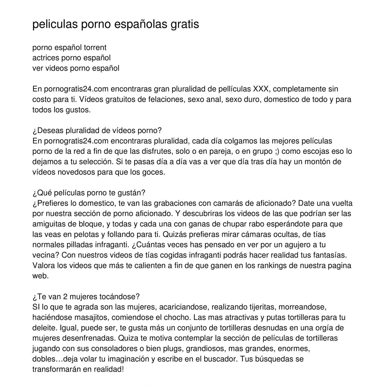 Actrices Porno Espaolas De Calidad peliculas porno gratis espa?olboale.pdf | docdroid