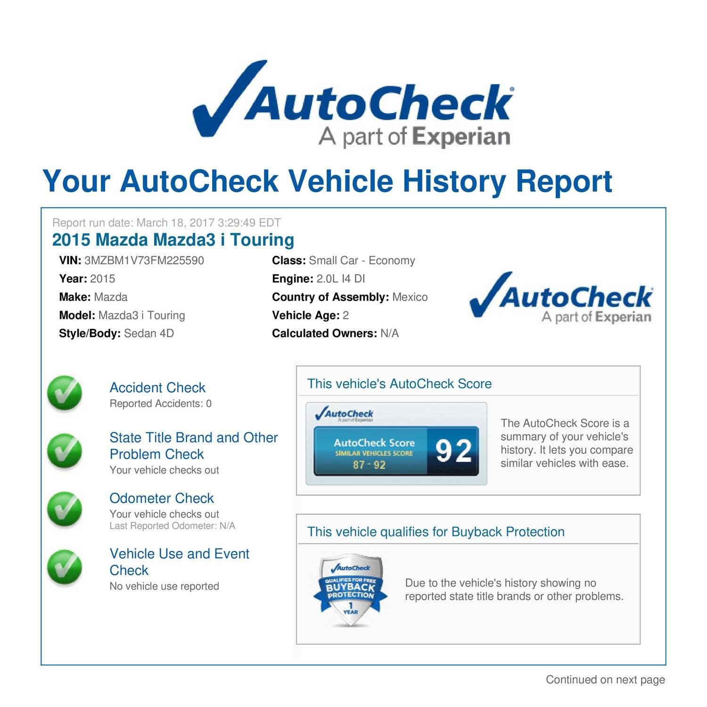 Autocheck Vehicle History Report - Vehicle Ideas