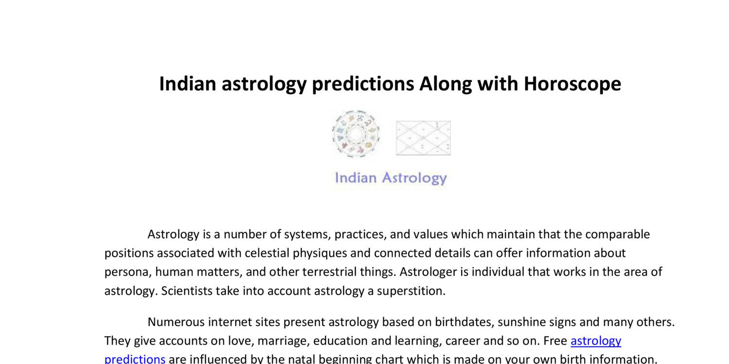 Indian astrology predictions along with horoscopepdf docdroid geenschuldenfo Image collections