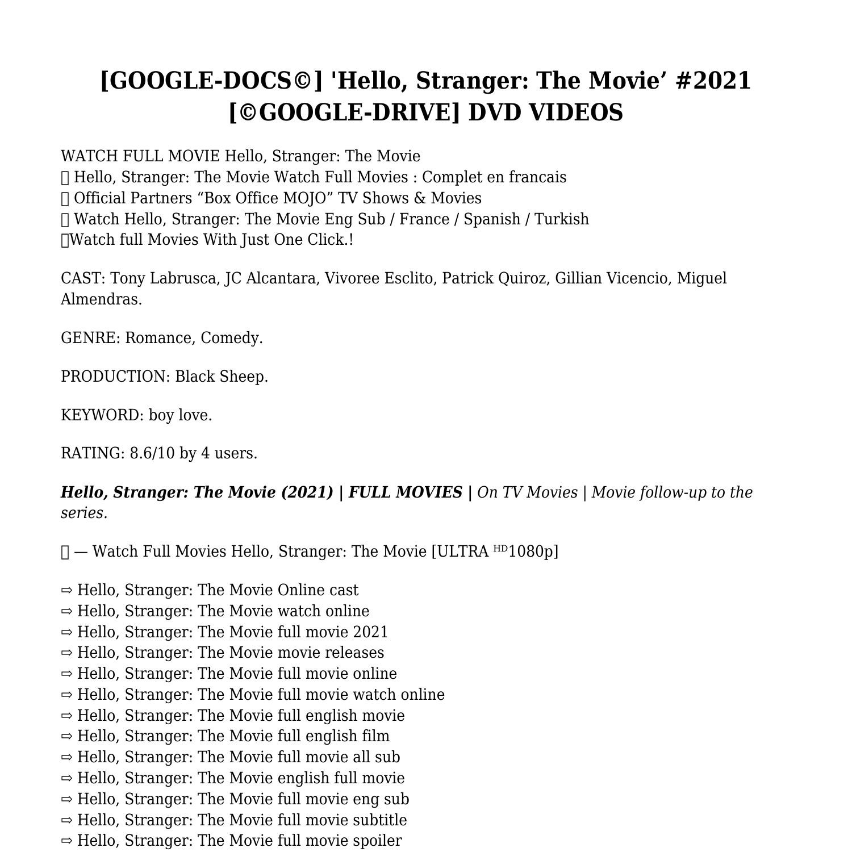 Google Docs After Movie