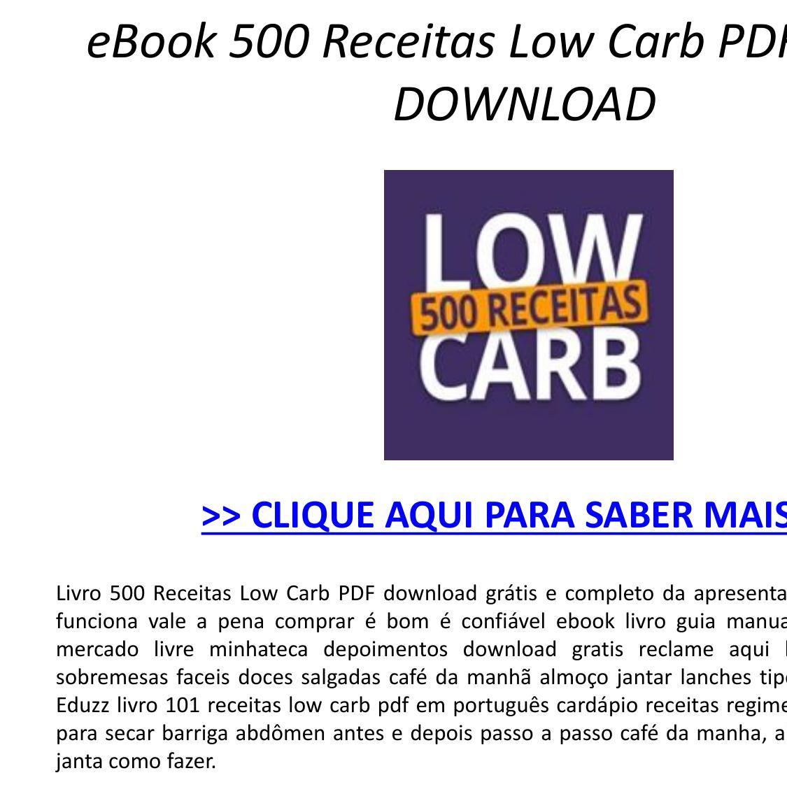 receitas para secar em 30 dias pdf