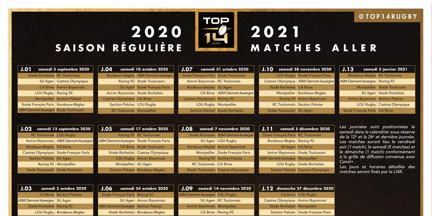 Calendrier Top 14 2021 Pdf Calendrier des oppositions_TOP 14_2020 2021.pdf | DocDroid