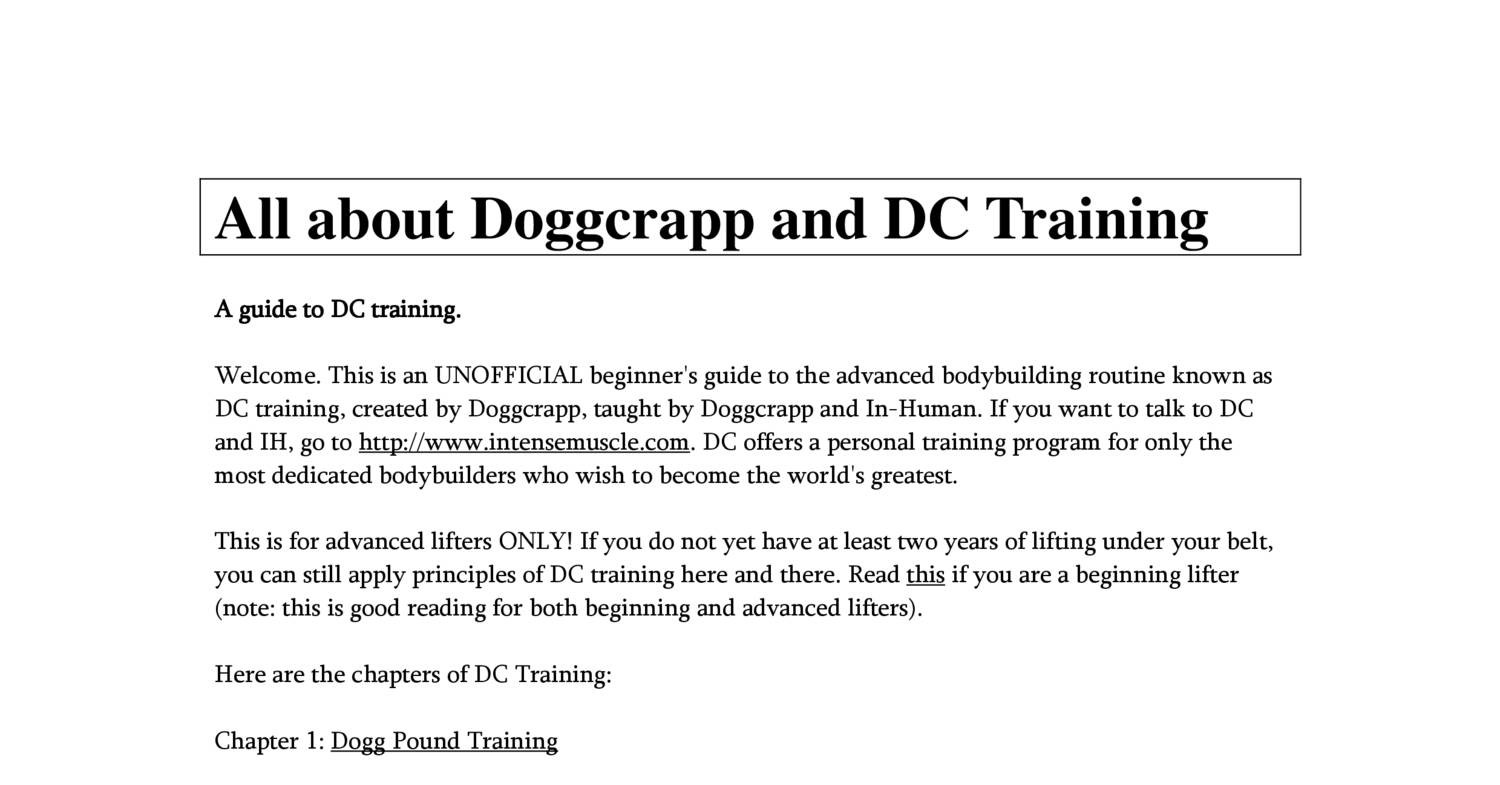 All about Doggcrapp and DC Training pdf | DocDroid