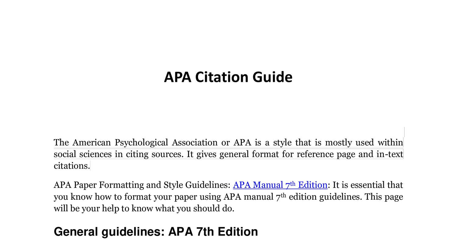 apa citation guide pdf docdroid