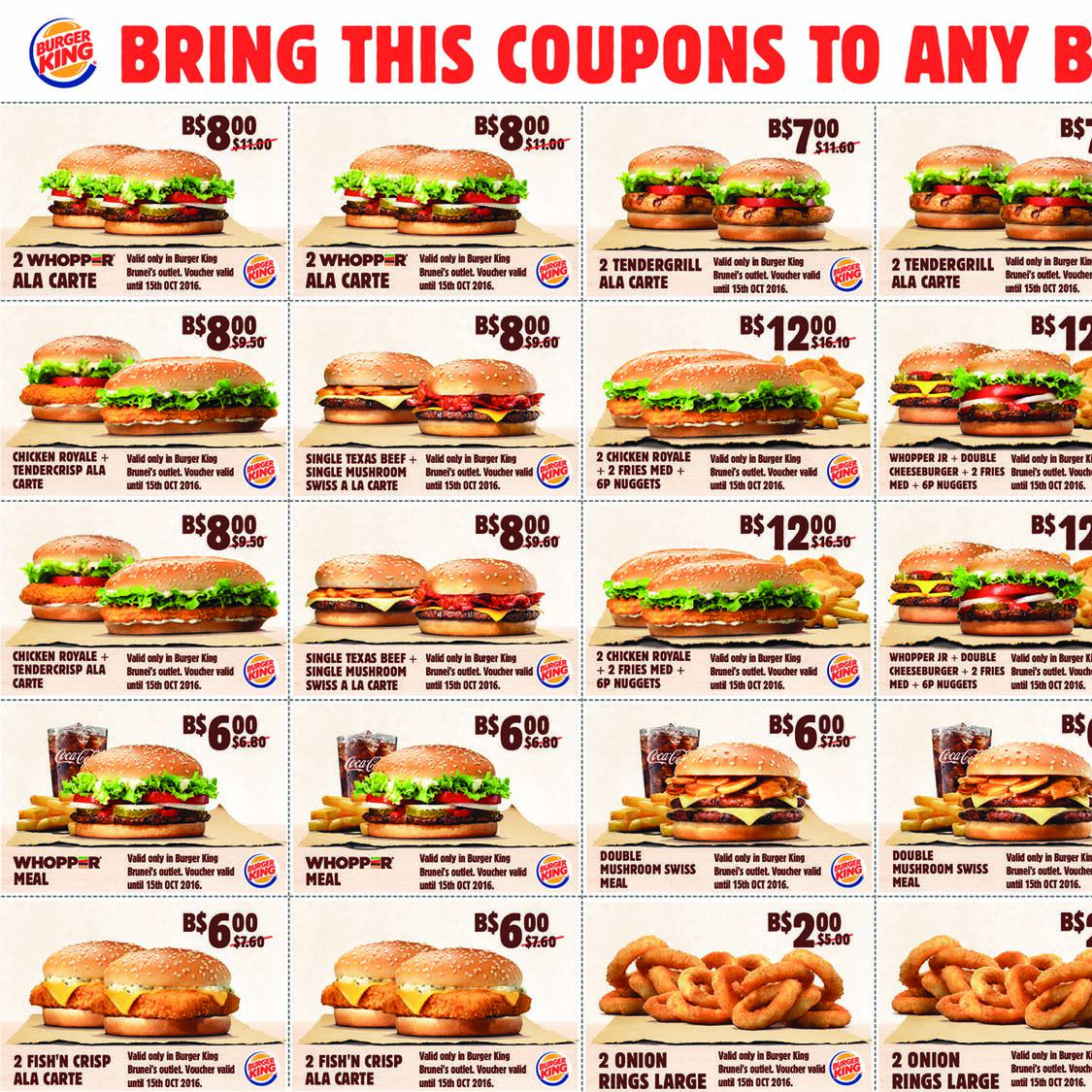 Menus Burgers Burger King Carte.Coupon Burger King Print Discount