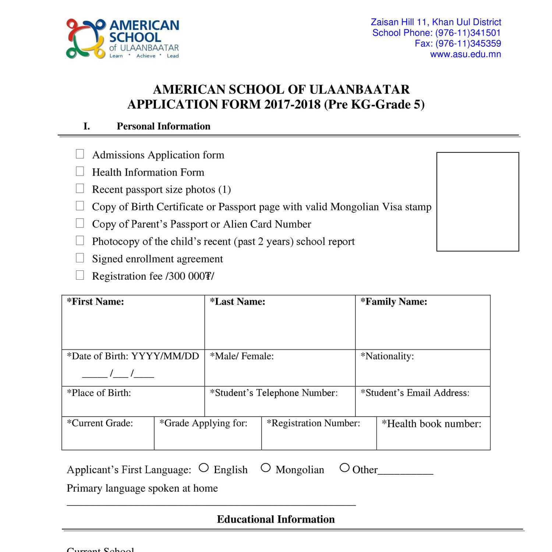 Es Application Form 2017 2018 Engpdf Docdroid