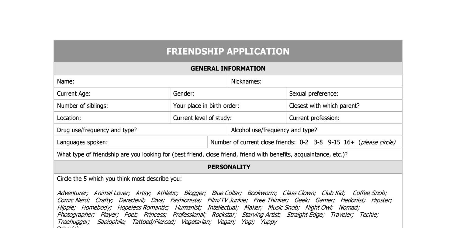 Friend with benefits application