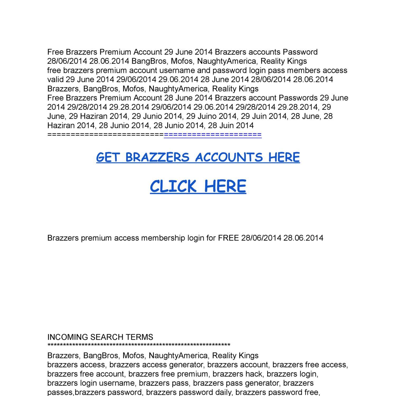 Free brazzers login