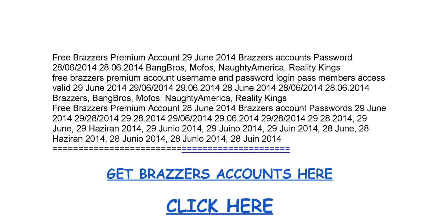 Brazzer account and password final