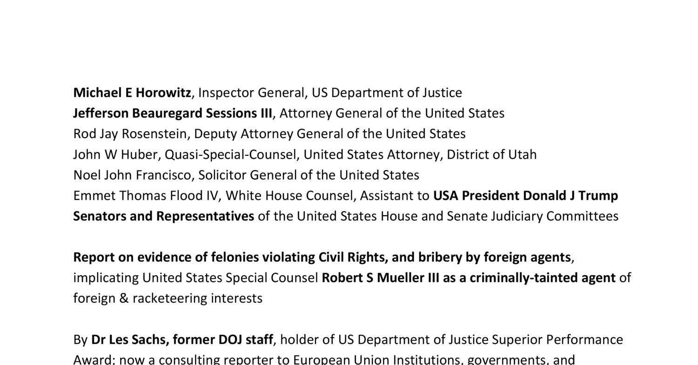 DOJ IG memo Mueller bribery extortion pdf   DocDroid