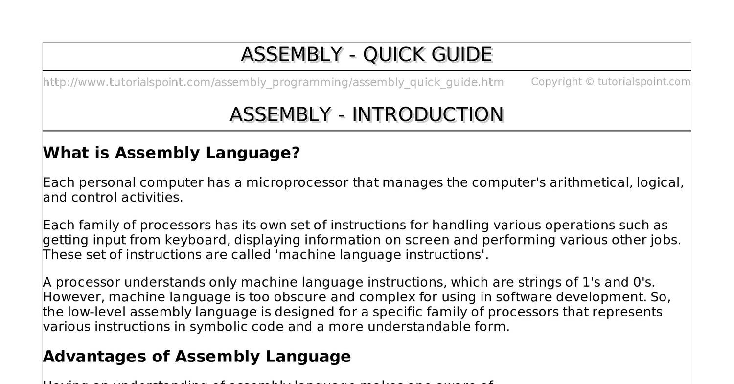 assembly pdf | DocDroid