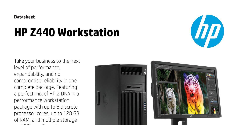 HP Workstation Z440 datasheet pdf | DocDroid