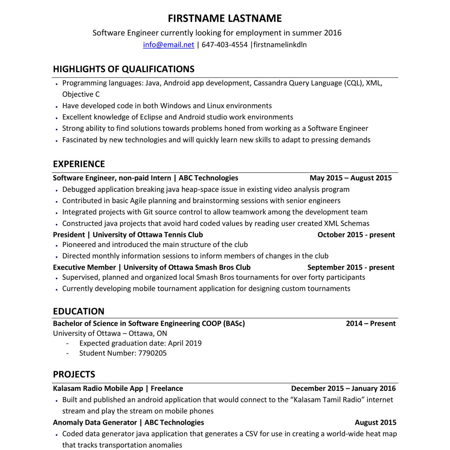 100 reddit resume sle software engineer resume
