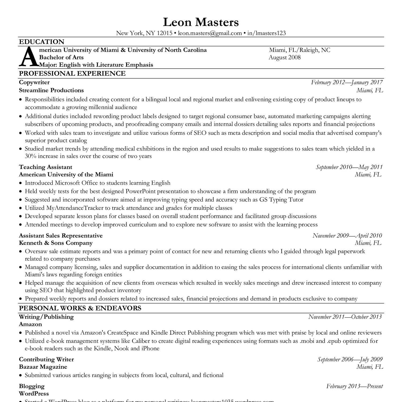 Fake Resume.pdf - DocDroid