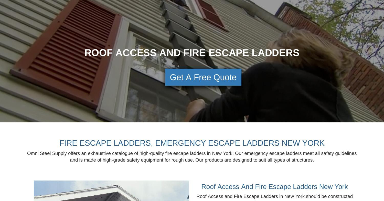 Roof Access and Fire Escape Ladders NY