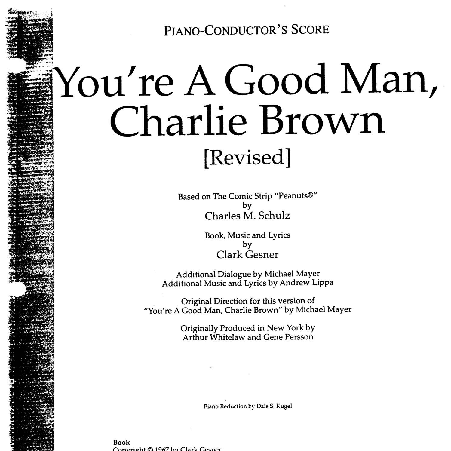 You're A Good Man, Charlie Brown - Conductor Score pdf | DocDroid