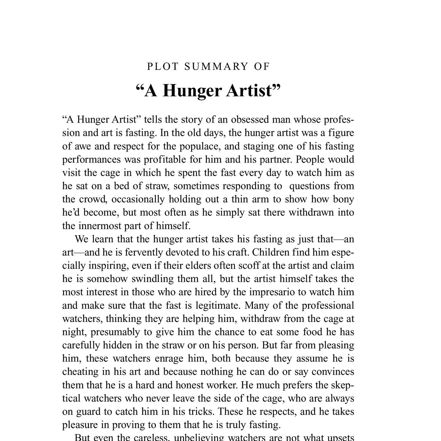 short story with author and summary