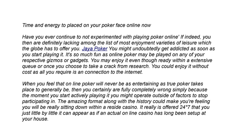 Jaya Poker Pdf Docdroid