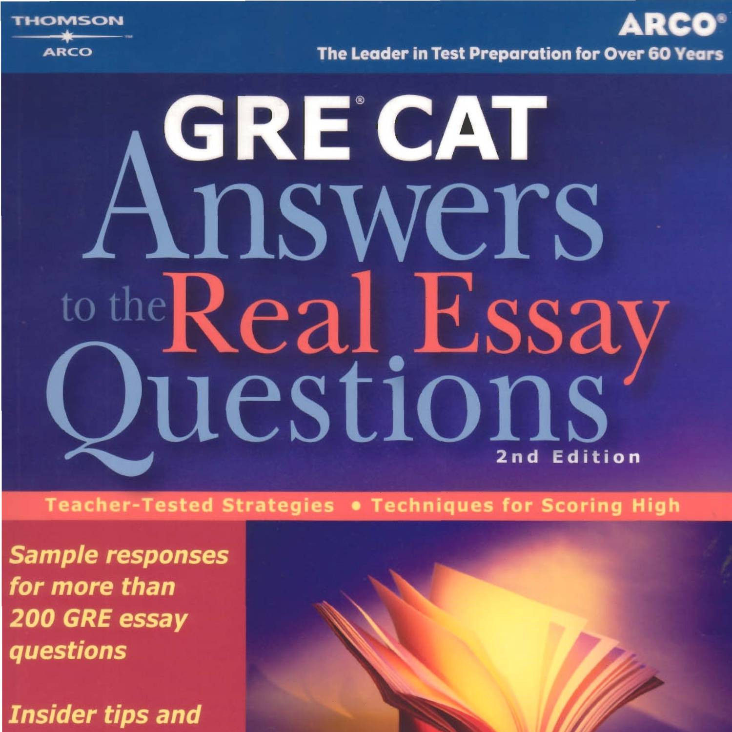 essay writing books for gre With just a few minutes to analyze, organize, outline, and compose your essay responses, you need all the preparation you can get before test day gre answers to the real essay questions provides sample responses from more than 200 actual gre essay questions, along with a comprehensive review of what test graders expect from your writing.
