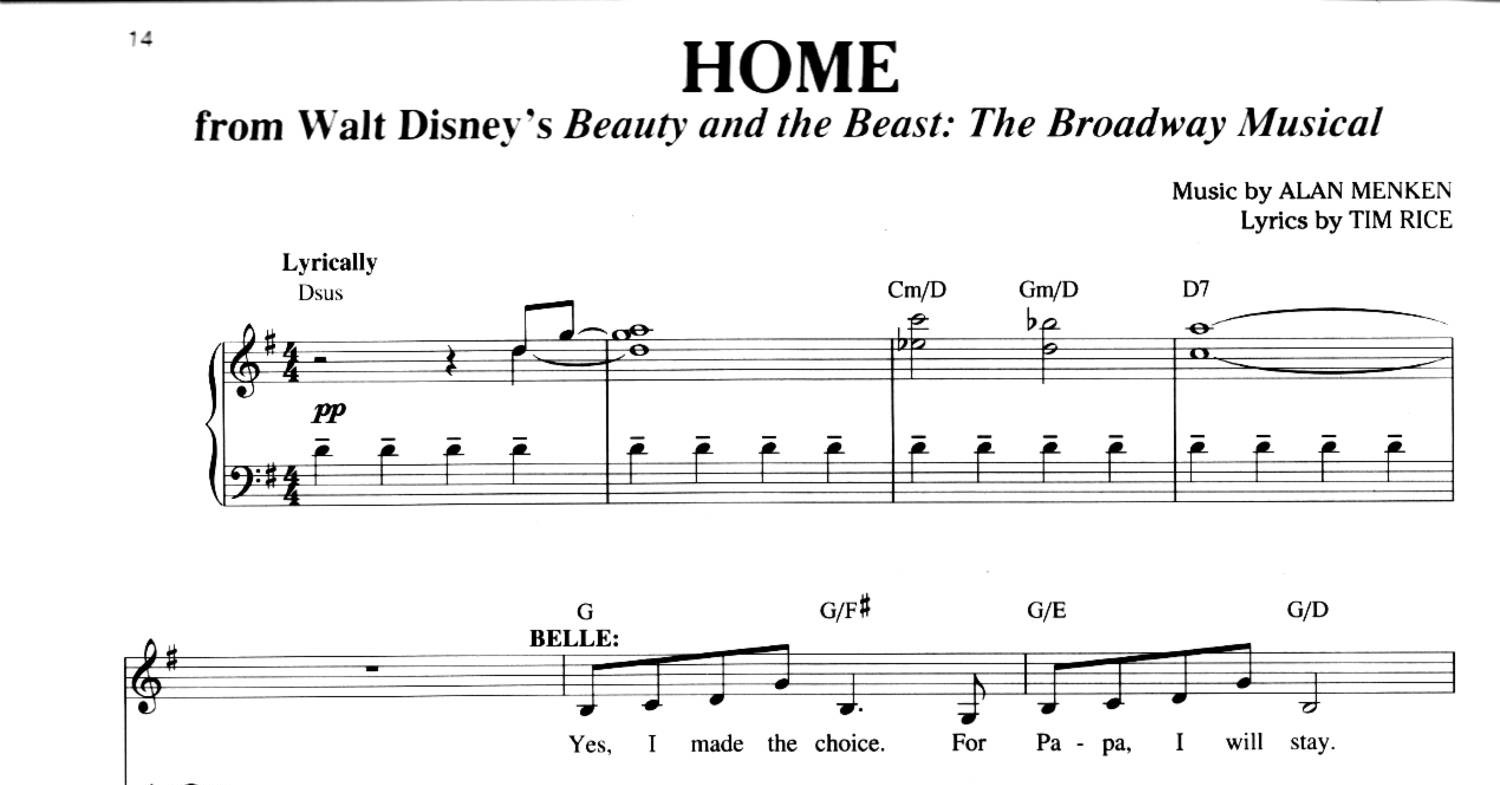 picture about Beauty and the Beast Piano Sheet Music Free Printable identified as Splendor and the Beast - Household.pdf DocDroid