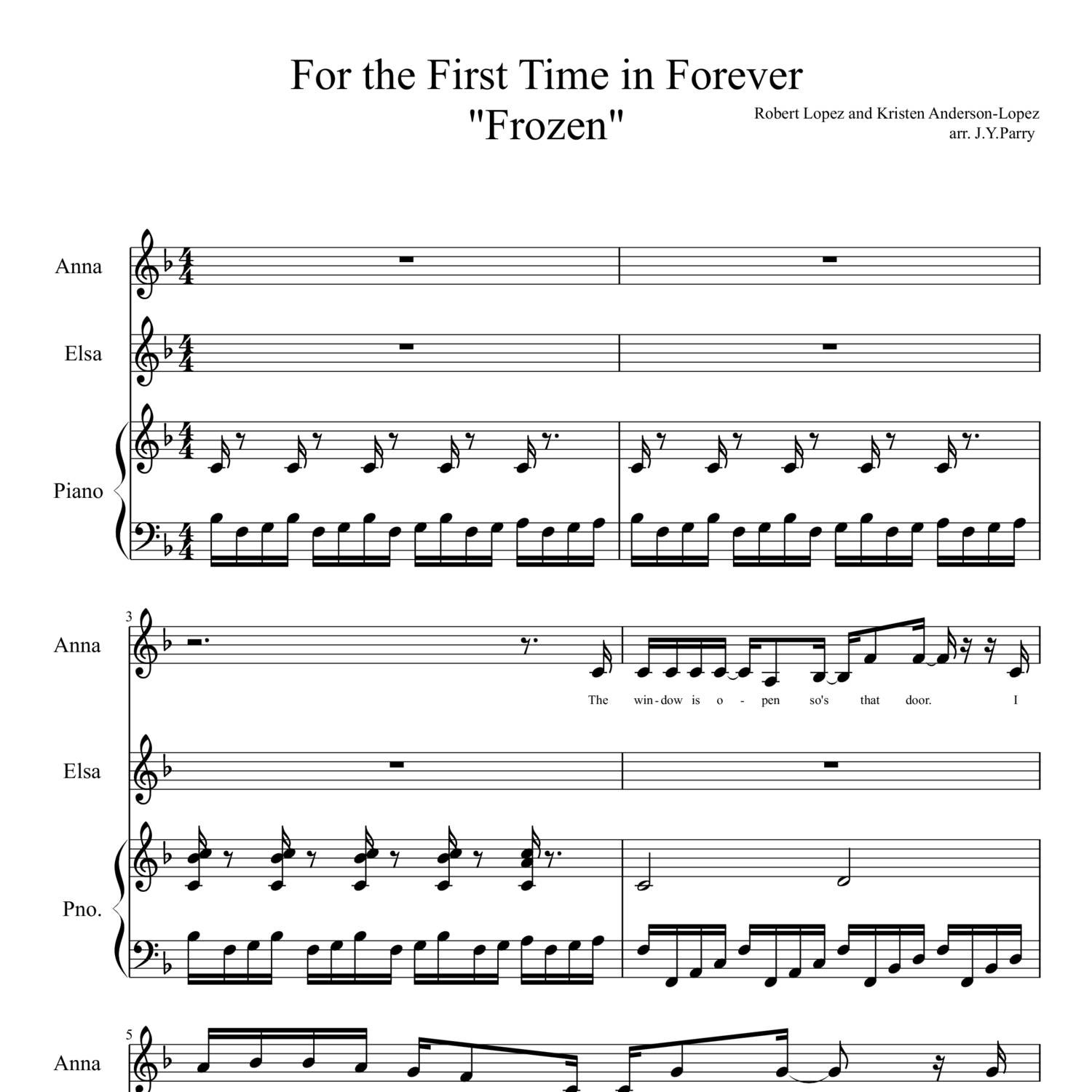 for the first time in forever sheet music free pdf