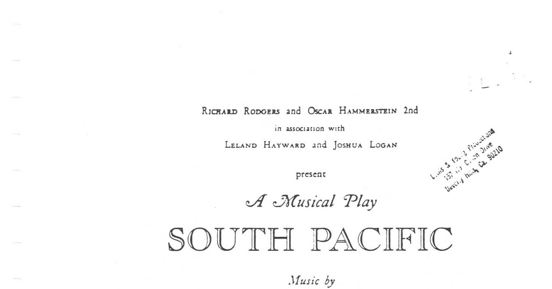 South Pacific Score Pdf Docdroid