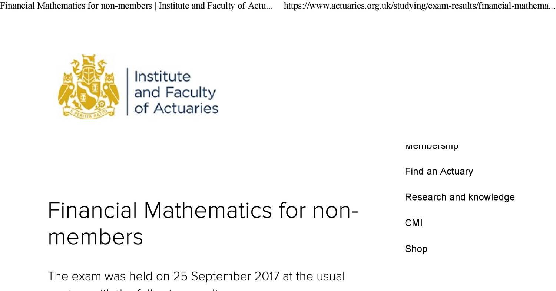 Ct1 Financial Mathematics Pdf