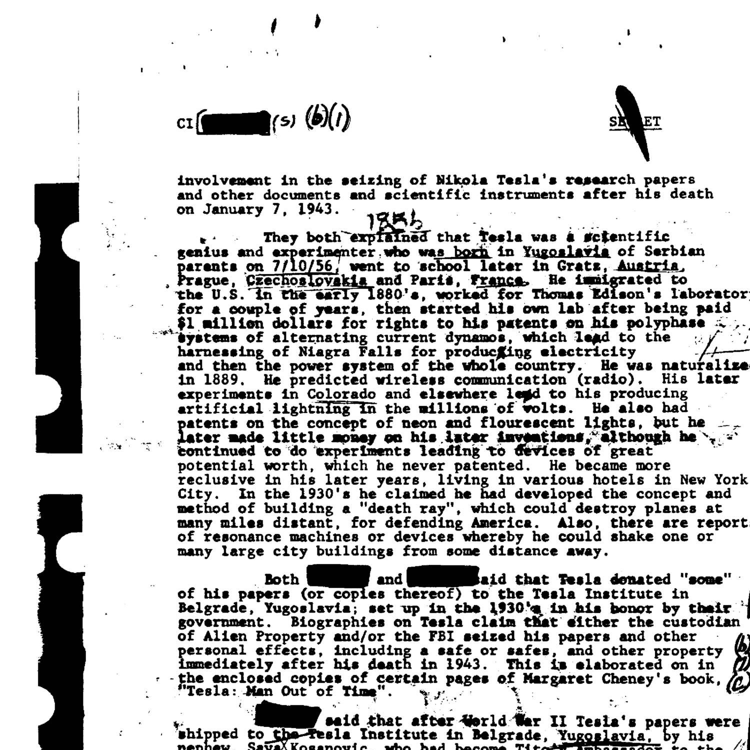 Fbi Files On Nikola Tesla 02 Pdf Docdroid