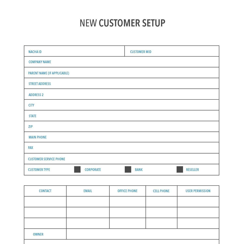 ACH New Customer Setup Formpdf