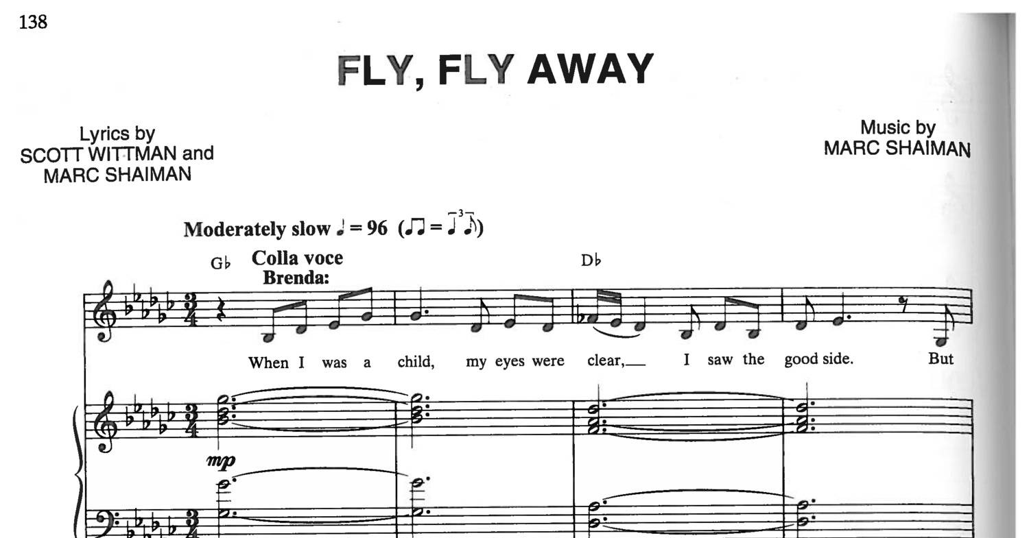 fly fly away sheet music
