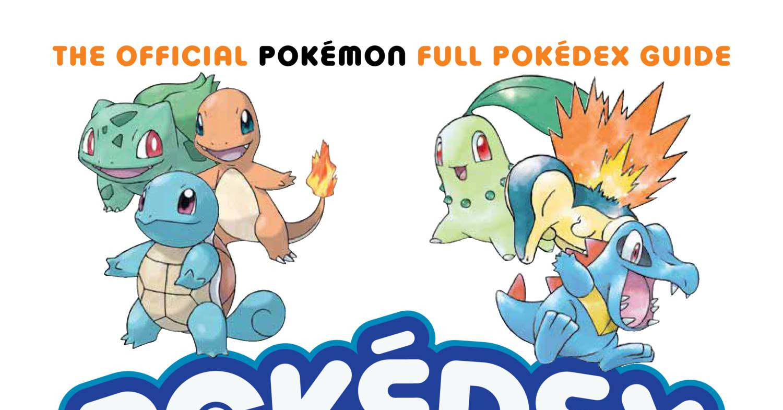 Pokemon pokedex pdf file