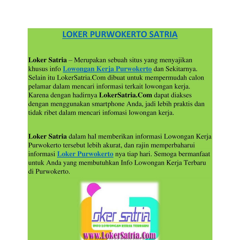 Loker Hotel Purwokerto Terbaru