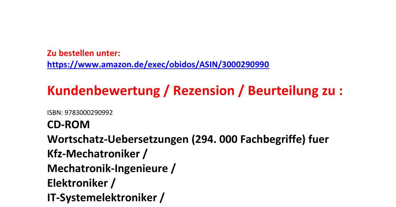 Kundenbewertung Rezension englisch Technisches Woerterbuch.pdf ...