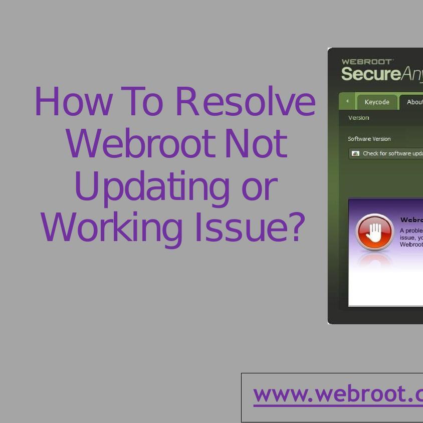webroot not updating
