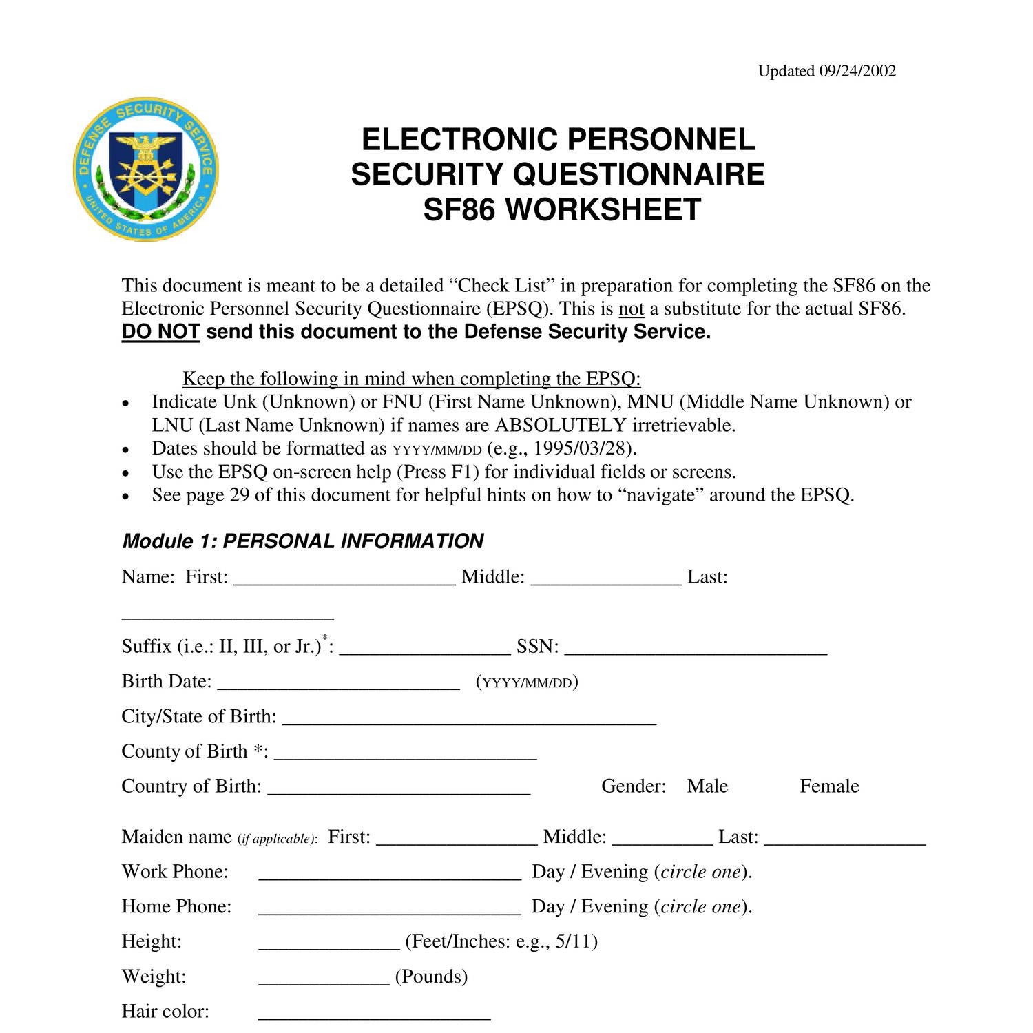 Worksheets Sf 86 Worksheet security clearance application sf86 pdf docdroid