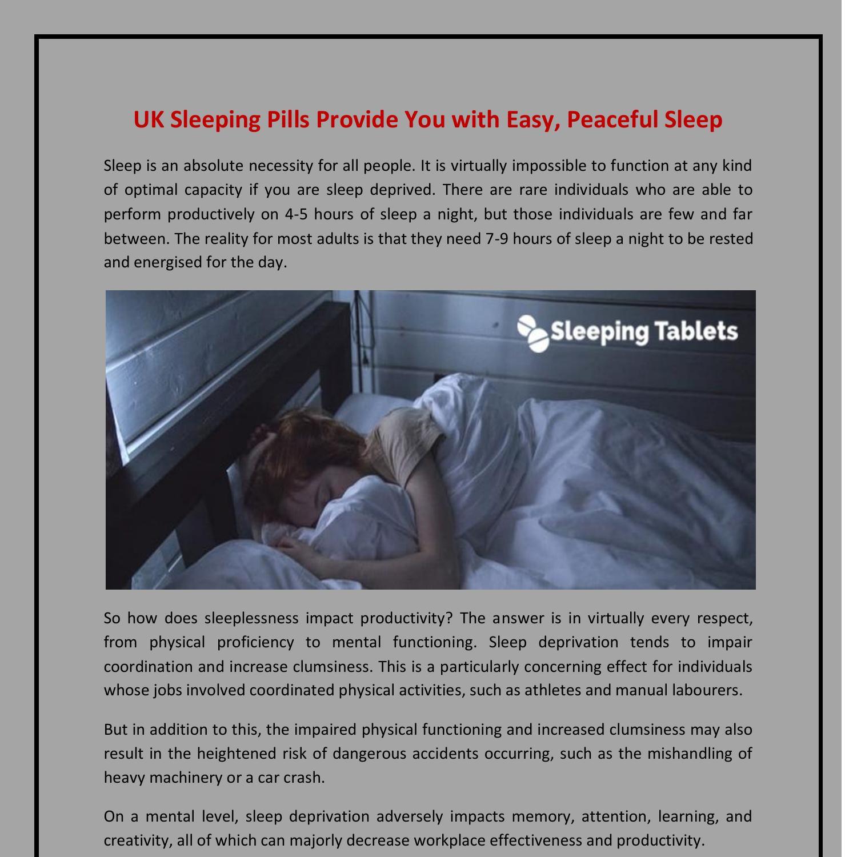 UK Sleeping Pills Provide You with Easy, Peaceful Sleep.pdf | DocDroid