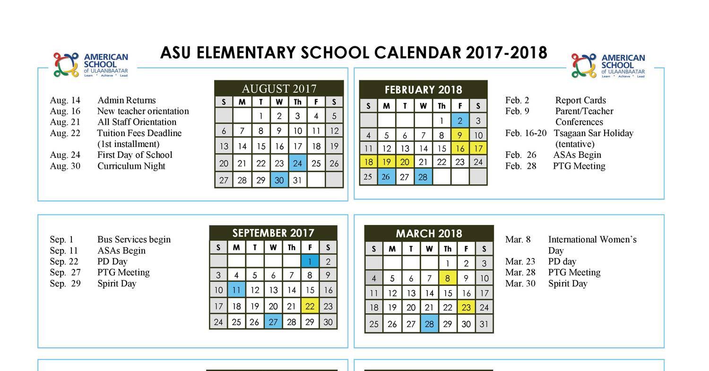 Elementary School Calendar 2017 2018 Pdf Docdroid