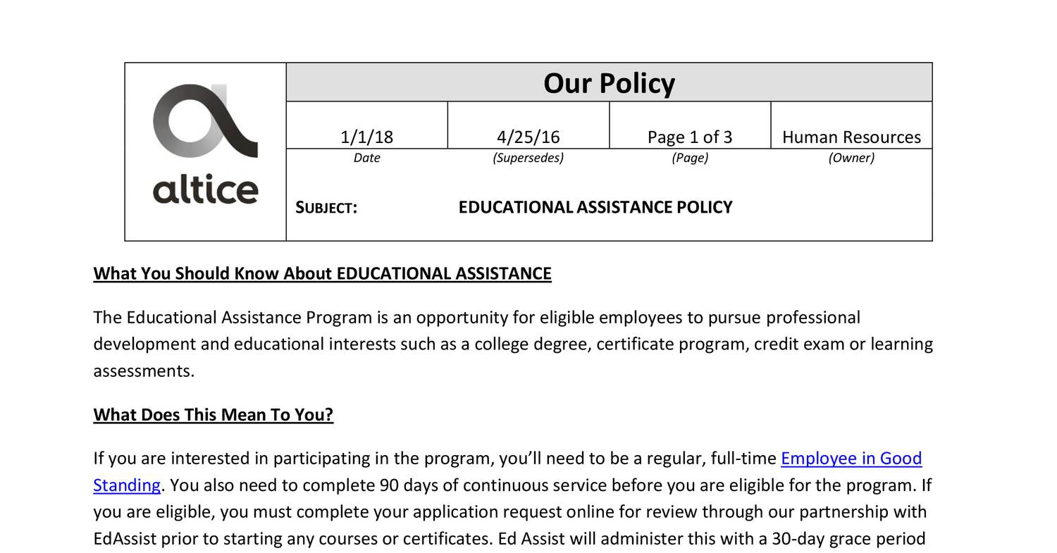 Educational-Assistance-Policy pdf | DocDroid