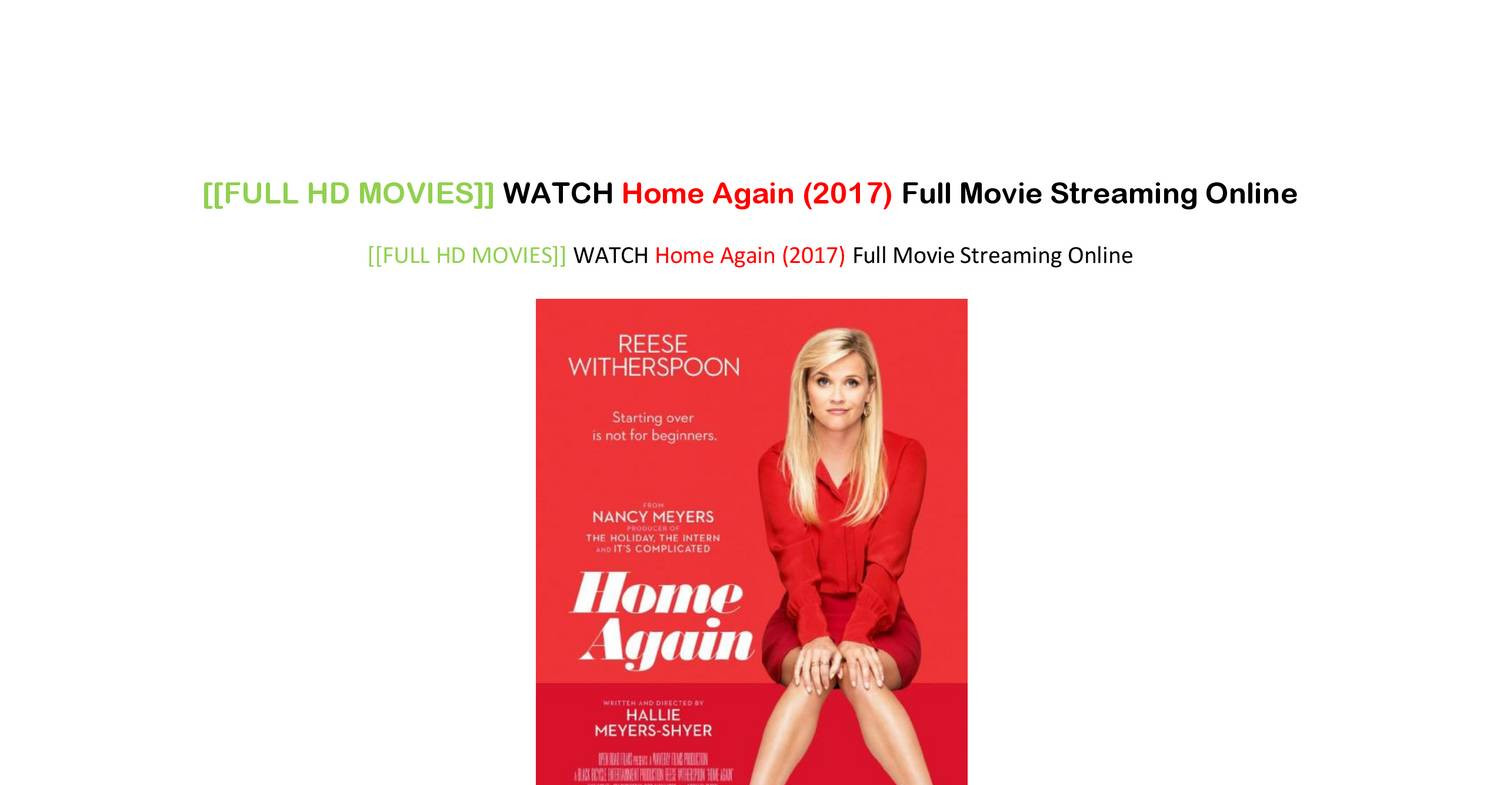 Full Hd Movies Watch Home Again 2017 Full Movie Streaming Online