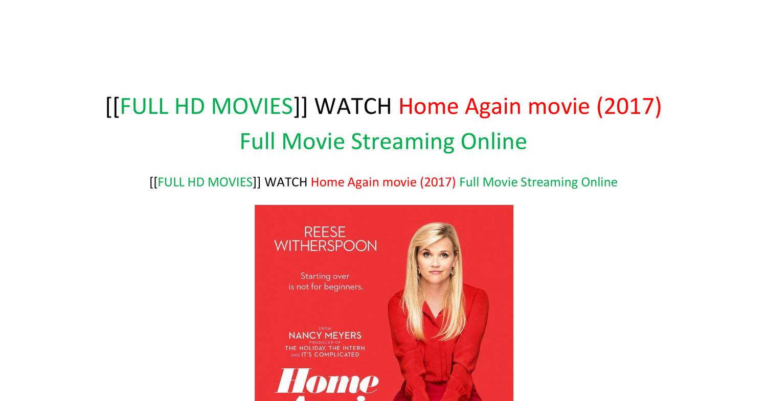 Full Hd Movies Watch Home Again Movie 2017 Full Movie Streaming