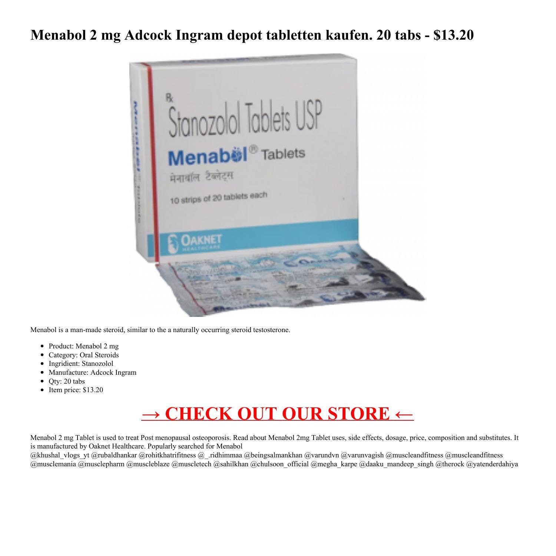 Menabol 2 mg xtreme