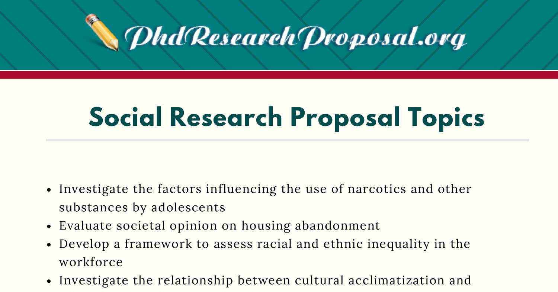social research ideas