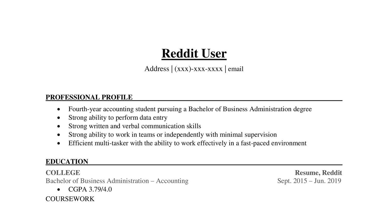 Reddit User Resume Pdf Docdroid