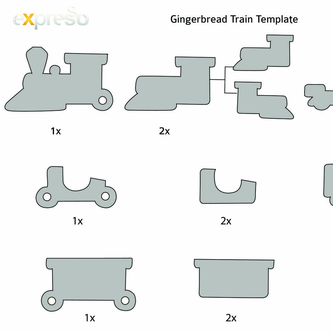 It's just a picture of Gingerbread Template Printable throughout pattern